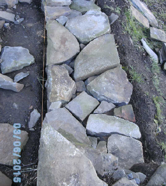 dry stone wall rebuilding
